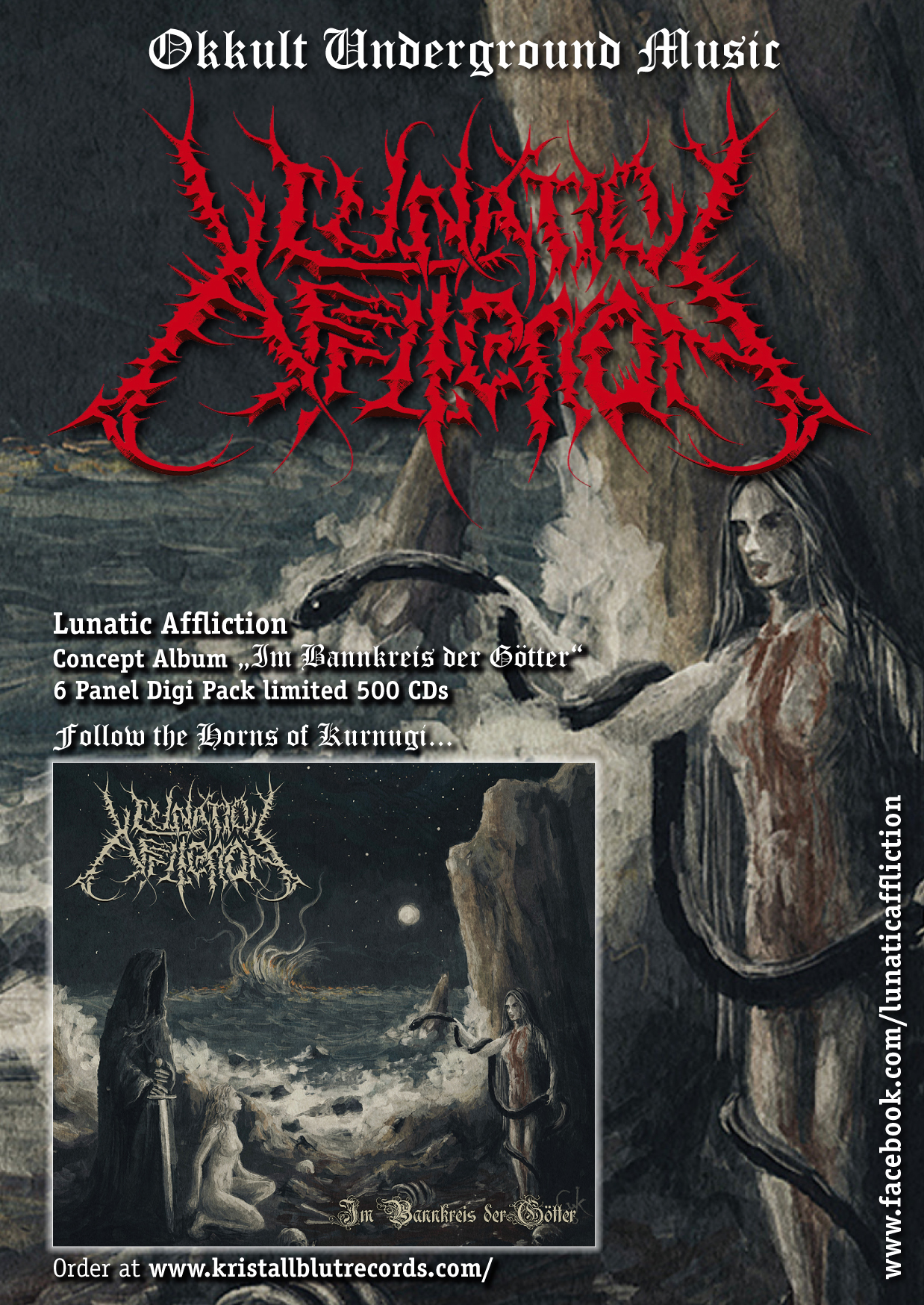 LUNATIC AFFLICTION signed under the banner of Kristallblut Records